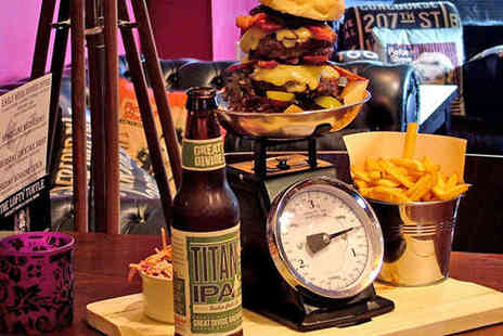 The Lofty Turtle - King Kong Burger or Rump Steak with Side Dish and Mojito Each for Two - Save 53%