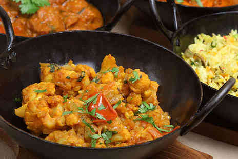 Red Oven - Two Course Indian Meal with Rice or Naan Bread and Beer Each for Two - Save 67%