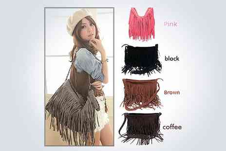 ePacific Mall - Stylish tassle handbag in black brown pink or coffee - Save 50%