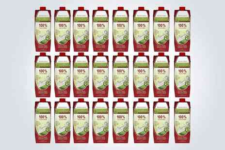The Mood Food Company - 24 one litre bottles of Cocofina Coconut Water - Save 53%