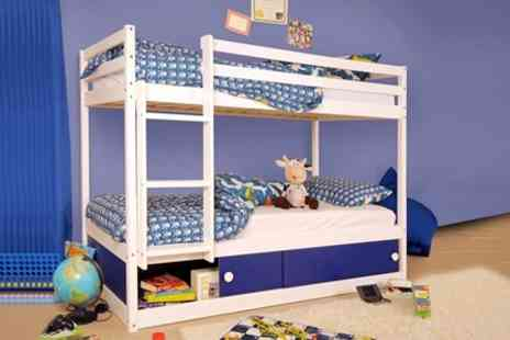 Sleep Softly - Storage Bunk Bed in Pink or Blue - Save 59%