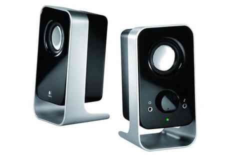Ask Electronics - Logitech LS11 Speakers with Silver Stand - Save 75%