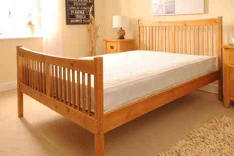 Sleep Softly - Solid Pine, Handmade, Shaker Style Bed - Save 66%