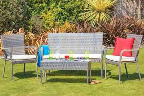 Cozy Bay - Winchester four-piece rattan patio set - Save 72%