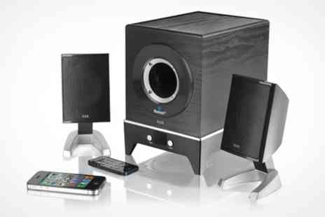 Deluxe Home Brands - Bluetooth Multimedia 2.1 Channel Speaker System - Save 65%