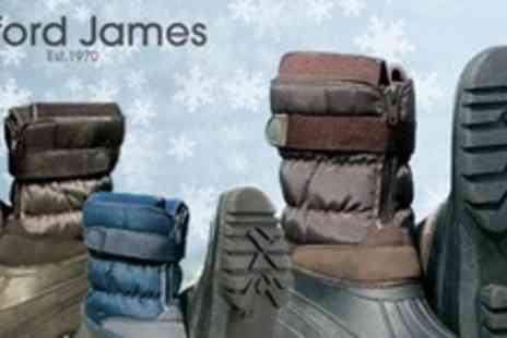 Clifford James - Three Pairs of Unisex Waterproof Winter Boots - Save 75%