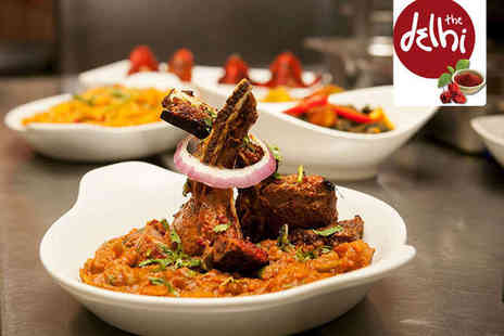 The Delhi - Two Course Indian Meal with Wine or Beer for Two - Save 59%
