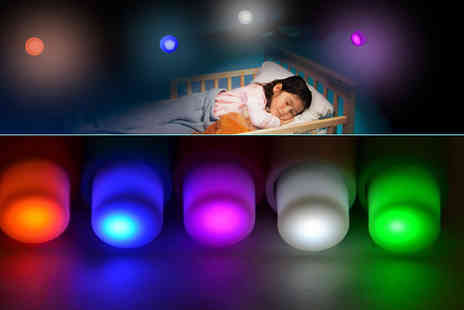 UKCJS - Light up your surroundings with vibrant colours with these Push Pin LED Lights - Save 80%