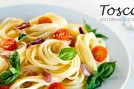 Toscas - Three Courses of Italian Cuisine For Two Plus Glass of Wine Each - Save 61%