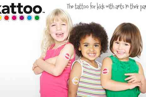 Kattoo - Lolllibop Temporary phone number tattoos Fun and Unique way to Keep your Kids Safe outdoors - Save 25%