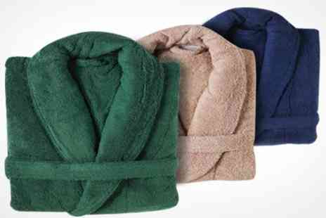 Linens - Egyptian Cotton Bathrobe in Choice of Colour - Save 52%