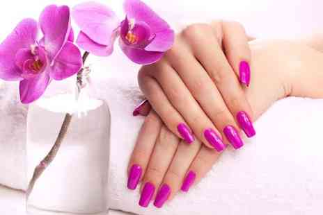 Nadya French - A Full Set of Acrylic Nails with Tips Bristol - Save 40%