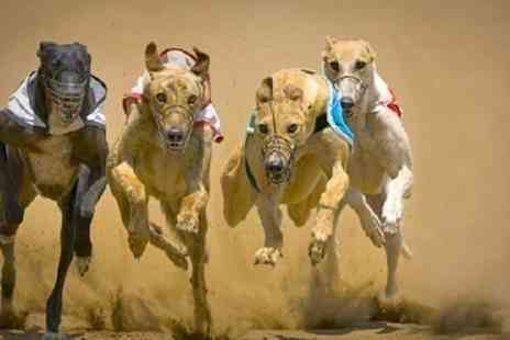 Startrax Racing - Wimbledon Greyhound Entry For Two With Racecard, Burger and Drink - Save 72%