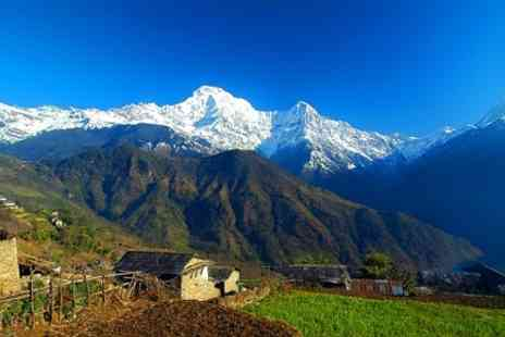 Experience the Himalayas - In Nepal 10 or 12 Night Tour With Trekking and Accommodation For Two - Save 17%