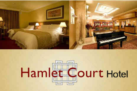 The Hamlet Court Hotel - One Night B&B for two with Glass of  Champagne - Save 51%