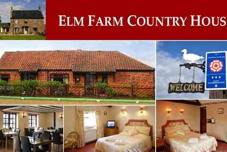 Elm Farm Country House - One Night Stay - Save 33%
