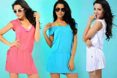 Dynergy - Beach Cover Up Dress in Choice of Colours - Save 50%