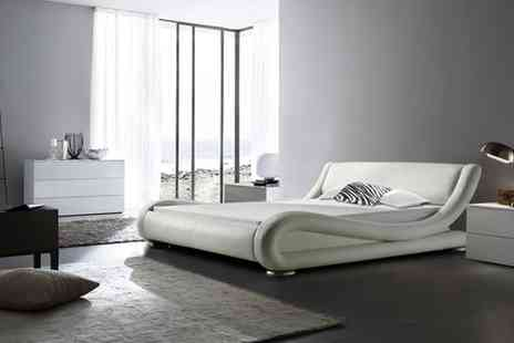 GRS Global - Curved Designer Bed Double - Save 74%