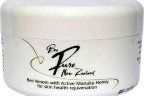 Bee Pure NZ - 100g Jar of Bee Pure NZ Bee Venom and Manuka Honey Face Cream - Save 70%