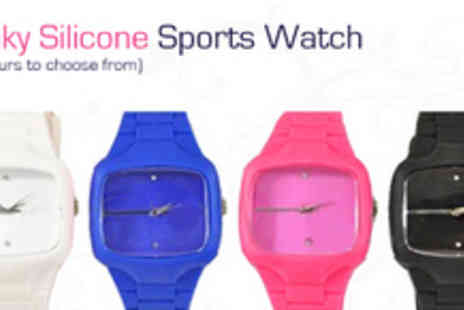 I want to pay less - Funky Silicone Sports Watch (choice of 4 colours) - Save 71%