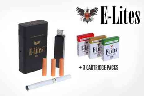 E-Lites - E-Lites Exec Rechargeable Electronic Cigarette Kit Includes 18 Refill Cartridges, Approximately 220 Cigarettes for £18 - Save 62%