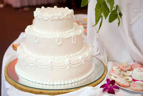 Trifles Bakery - Two tier iced wedding cake - Save 52%