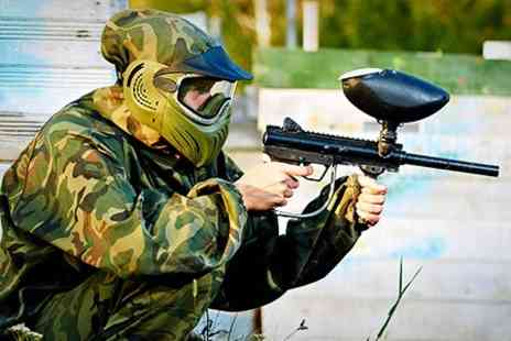 Skirmish Central - Full Day Paintballing Experience With 100 Balls Each - Save 77%