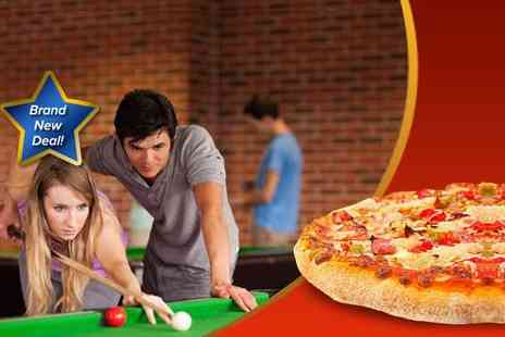 The Ball Room - Two hours of American pool or snooker for two people including a 12 stonebaked pizza - Save 50%