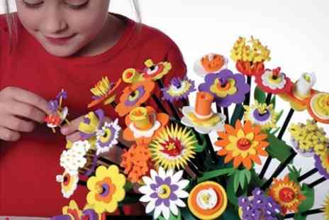 The Happy Puzzle Company - Craft Kits Bundle Flower Making, Foil Art and Umbrella Painting - Save 49%