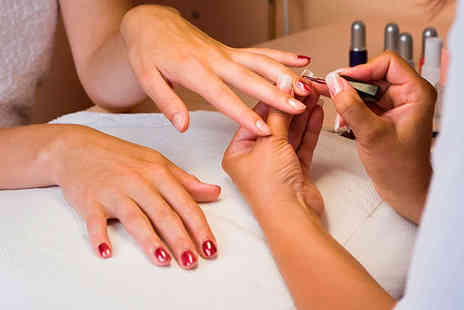 Vitality Beauty - Shellac Manicure or Pedicure with Gel Polish Cuticle Work and File - Save 55%