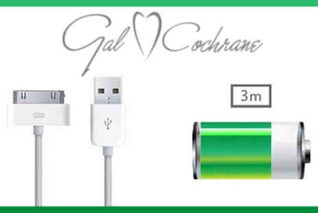 Gal Cochrane - 3m iPhone/iPad Charging Cables - Save 30%