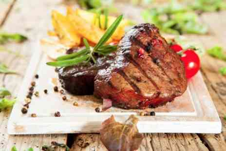 The Plough Inn - 10oz Steak Meal With Wine For Two - Save 36%