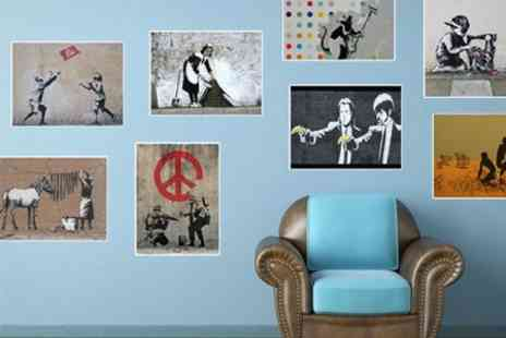 Printed Wardrobe - Five Banksy Wall Vinyls - Save 60%