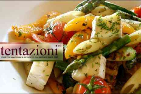 Tentazioni Restaurant - Three course lunch for two including wine or beer and coffee - Save 46%