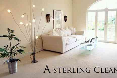 A Sterling Clean - 110 Sq Feet of Carpet Cleaning - Save 85%