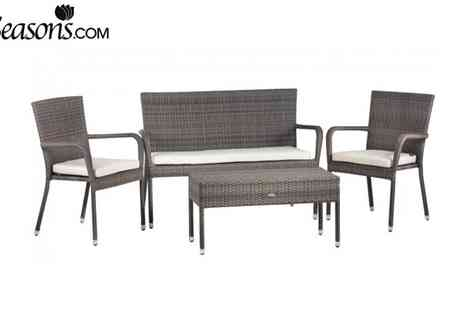Cozy Bay - Winchester 4 Seater Deep Seating Rattan Set - Save 65%