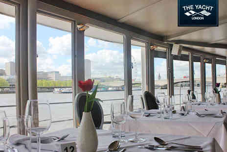 Gibsons - Luxury Three Course Thames Dining Experience for Two People - Save 57%