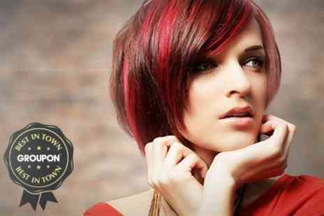 Pinkk Hair Design - Cut and Restyle with Full Colour - Save 63%