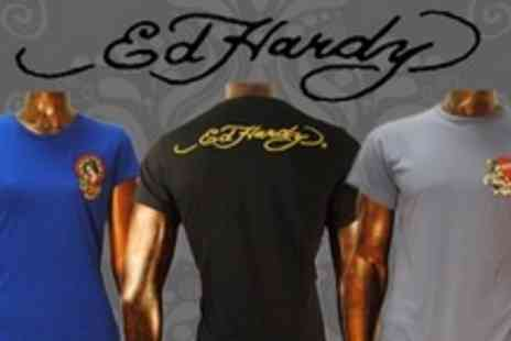 Born on the Streets - Two Ed Hardy Core T Shirts From Choice Of Thirteen - Save 78%