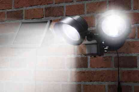 James Russell - Black Solar Security Light - Save 60%