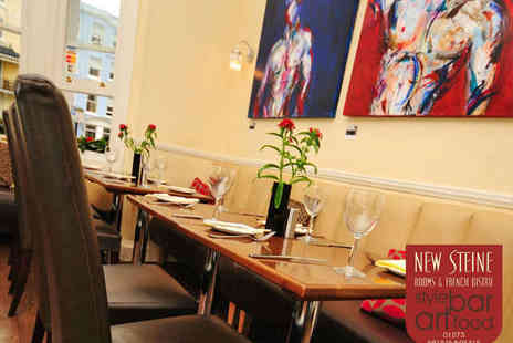New Steine Bistro - Starter, Main, and Glass of Wine Each for Two - Save 65%