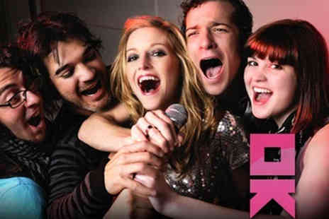 OK Karaoke - Two Hour Private Karaoke Booth Hire for Ten and a Shot Each - Save 86%