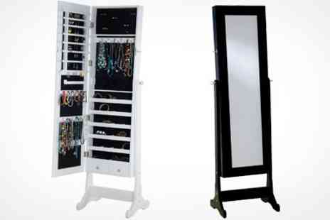 James Russell - Mirrored Jewellery Armoire in Choice of Colours - Save 72%