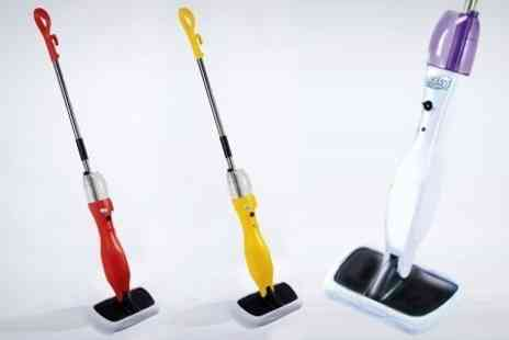 James Russell - Easy Steam Mop with Three Extra Microfibre Mop Pads - Save 56%