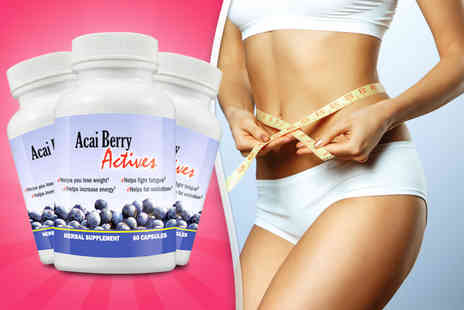 Beauty & Slimming - Three month supply of acai berry capsules - Save 73%