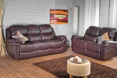 Furniture Wholesale Central - Two-Piece Leather Reclining Sofa Set - Save 54%