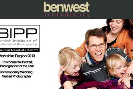 Ben West Photography - Family Photo Shoot Including Pets - Save 93%