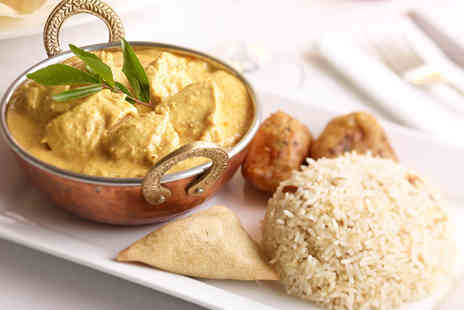Bombay Delight - Three course Indian meal for 2 including side dishes - Save 40%