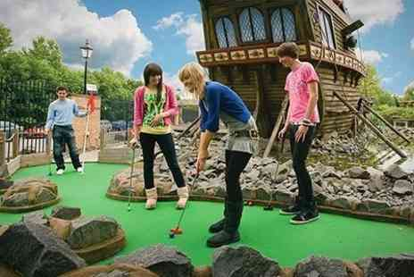 M & Ds Theme Park - One Round of 18 Hole Adventure Golf For Two - Save 40%