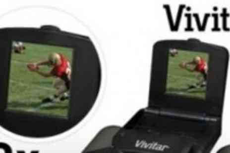 Vivitar - Binoculars with Digicam 12 x Magnification - Save 53%